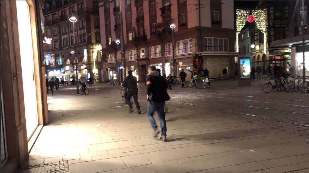 Страшные  кадры хаоса вцентре города— Стрельба вСтрасбурге