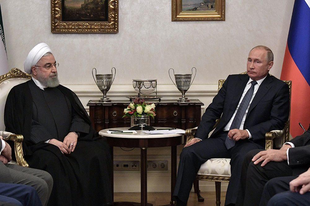 Встреча Владимира Путина и Хасана Рухани в Анкаре