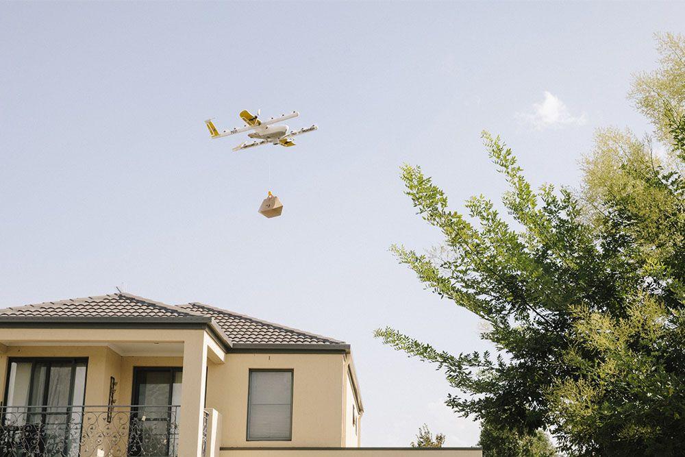 В Австралии начала работать первая в мире служба доставки с помощью дронов