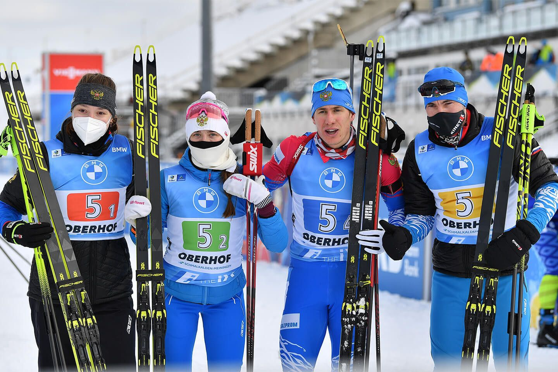 Российские биатлонисты после 43 гонок без медалей завоевали золото