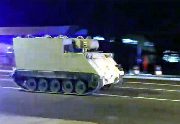 Милиции США удалось задержать военнослужащего, угнавшего бронетранспортер