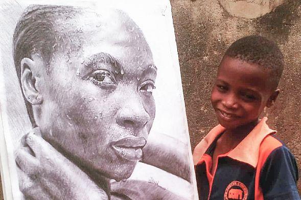 11-летний мальчик из Нигерии рисует гиперреалистичные картины: галерея