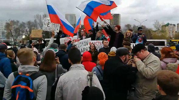Задержания начались на несогласованной акции в Новокузнецке