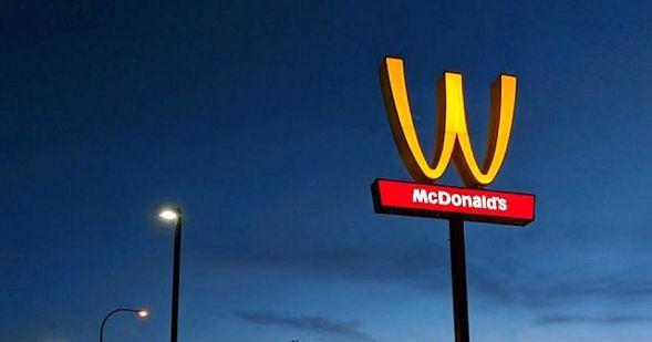 McDonald's впервый раз вистории изменил знак — Вподарок женщинам